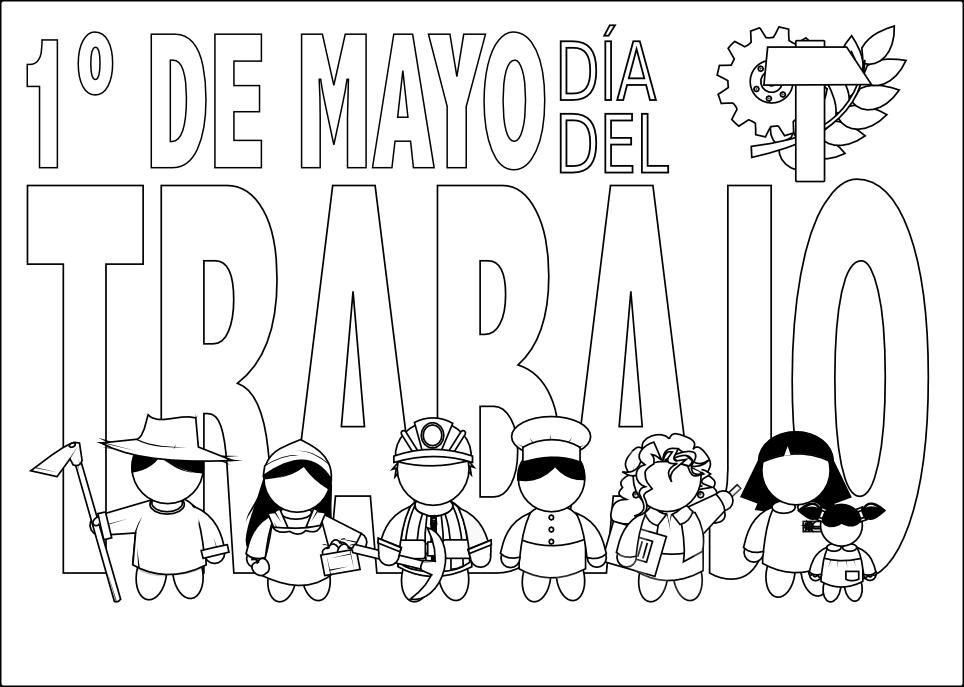 Encantador Día De Trabajo Para Colorear Páginas Para Niños Bandera ...