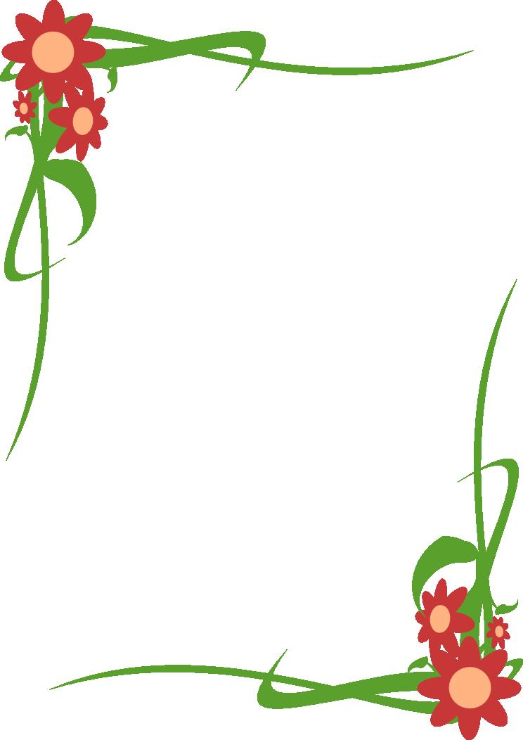 Marco floral focaclipart - Marcos para plantas ...