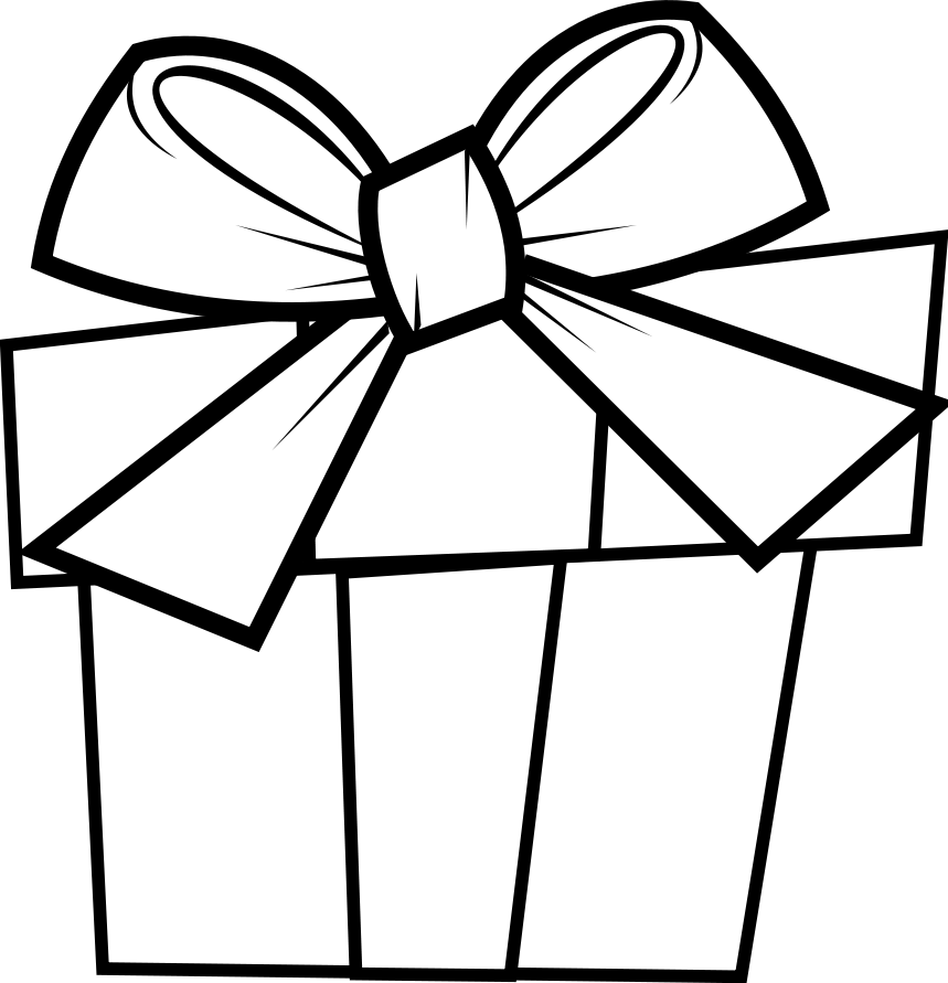 Christmas Clipart Coloring Page